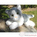 Video Anima - Peluche chat couche gris 30 cm -1952