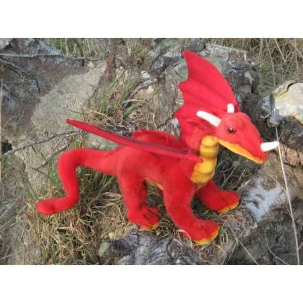 Peluche dragon rouge 42cm (long.) Anima 5937