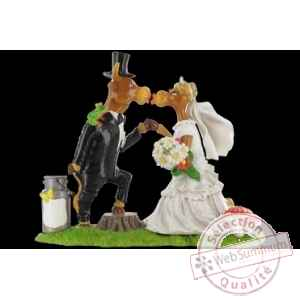 Vache figurine just married Art in the City -84146
