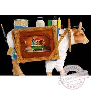 Figurine Vache the artful painter 32cm Art in the City 80649