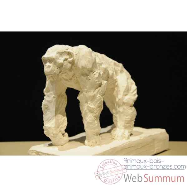 Chimpanze a l'arret Borome Sculptures -chimp3