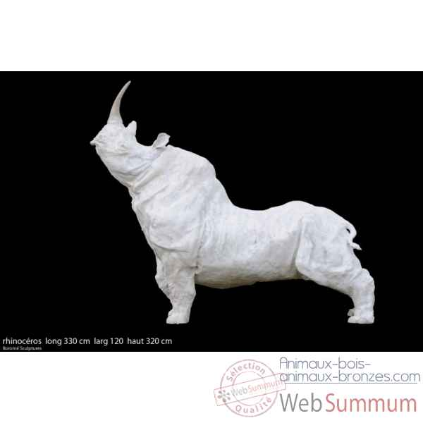 Rhinocerosen resine Borome Sculptures