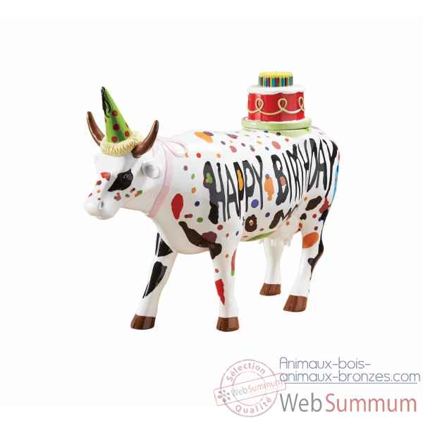 Figurine vache large happy birthday CowParade -GM46778 -1