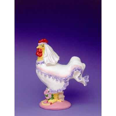 Figurine Coq - Poultry in Motion - Cock A Doodle Bride - PM16244
