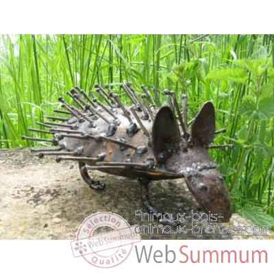 Herisson en Metal Recycle Terre Sauvage  -ma58