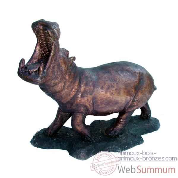 hippopotame en bronze brz1213 dans sculpture bronze sur animaux bois animaux bronzes. Black Bedroom Furniture Sets. Home Design Ideas