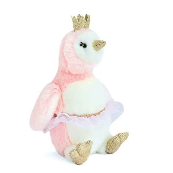 Peluche pingouin Pigloo rose 30 cm histoire d\'ours -2860