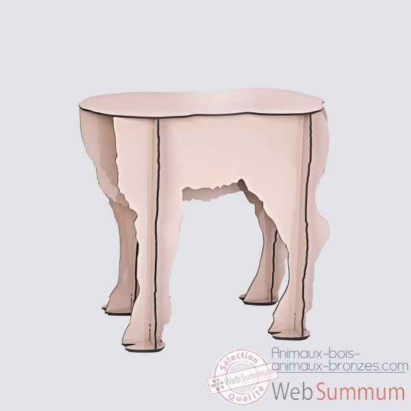 Tabouret agneau scotty rose Ibride -Scotty_rose