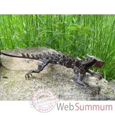 Iguane en Metal Recycle Terre Sauvage  -ma59