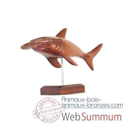 Video Lasterne - Les miniatures sur socle  - Le requin marteau en chasse - 50 cm - Last-ARE051S-R