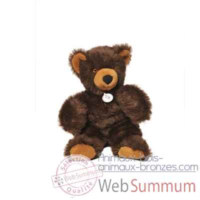 peluche Ours martin peluche - 30 cm - brun poil long les petites maries -FABH1OURMARBRUN