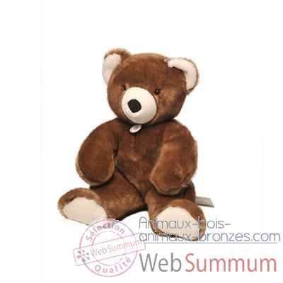peluche Ours martin peluche - 50 cm - marron glace les petites maries -FABH3OURMARMG