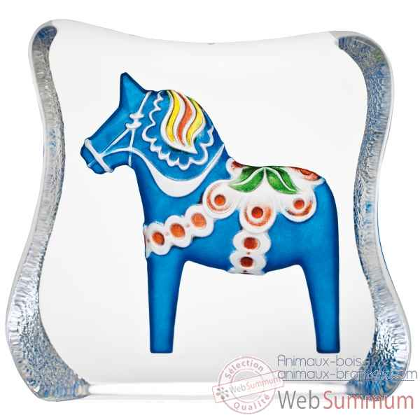 Cheval de dalecarlie , bleu , traditionnel design r ljubez Mats Jonasson -26127