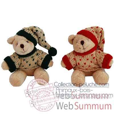 Les Petites Marie - Peluche collection Ti Zours, Lot de 2 ours Felix.