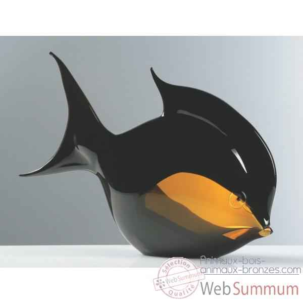 poisson en verre formia v45100 dans sculpture poisson en. Black Bedroom Furniture Sets. Home Design Ideas