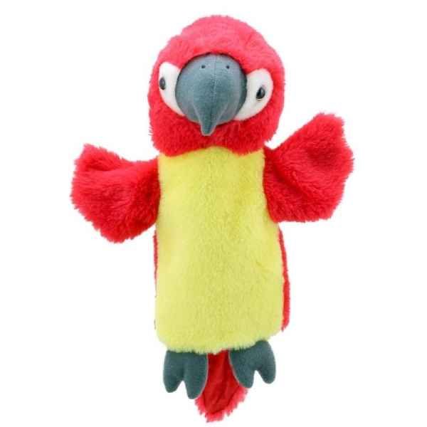 Marionnette peluche animaux perroquet tete rouge the puppet company -PC004632