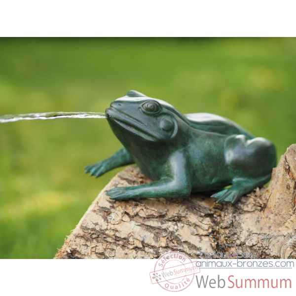 Statue en bronze grenouille vert thermobrass -an0243br-v-f