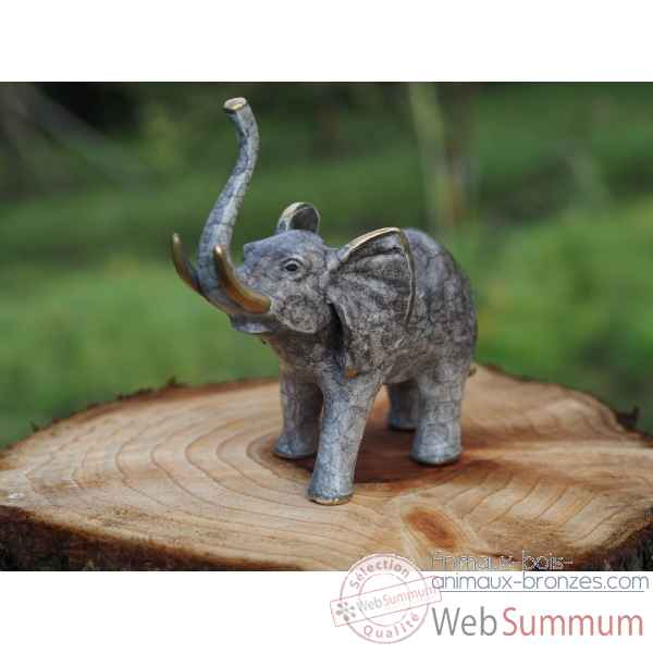 Statue en bronze petit elephant thermobrass -an1855br-hp